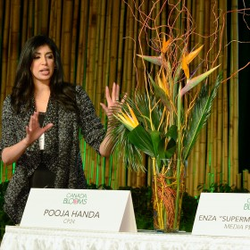 Celebrity Flower Arranging - Pooja Handa