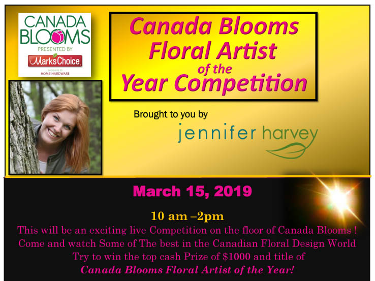 Canada Blooms Floral Artist of the Year Poster