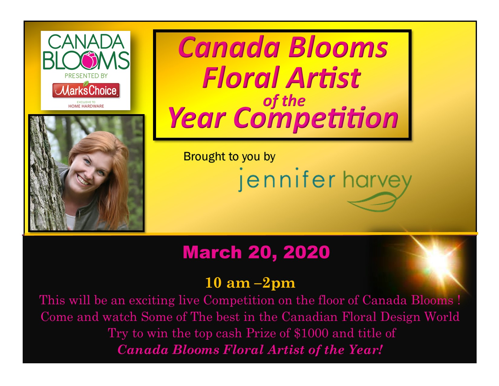 Canada Blooms FAOY Poster 2020