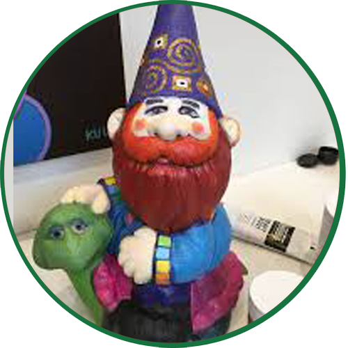 Portrait of a Gnome by Darlene Kulig