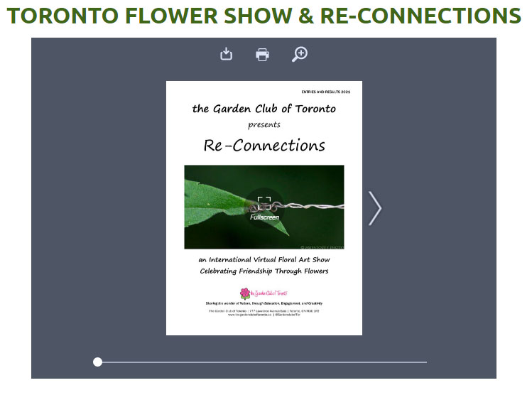 Toronto Flower Show Re-Connections Image